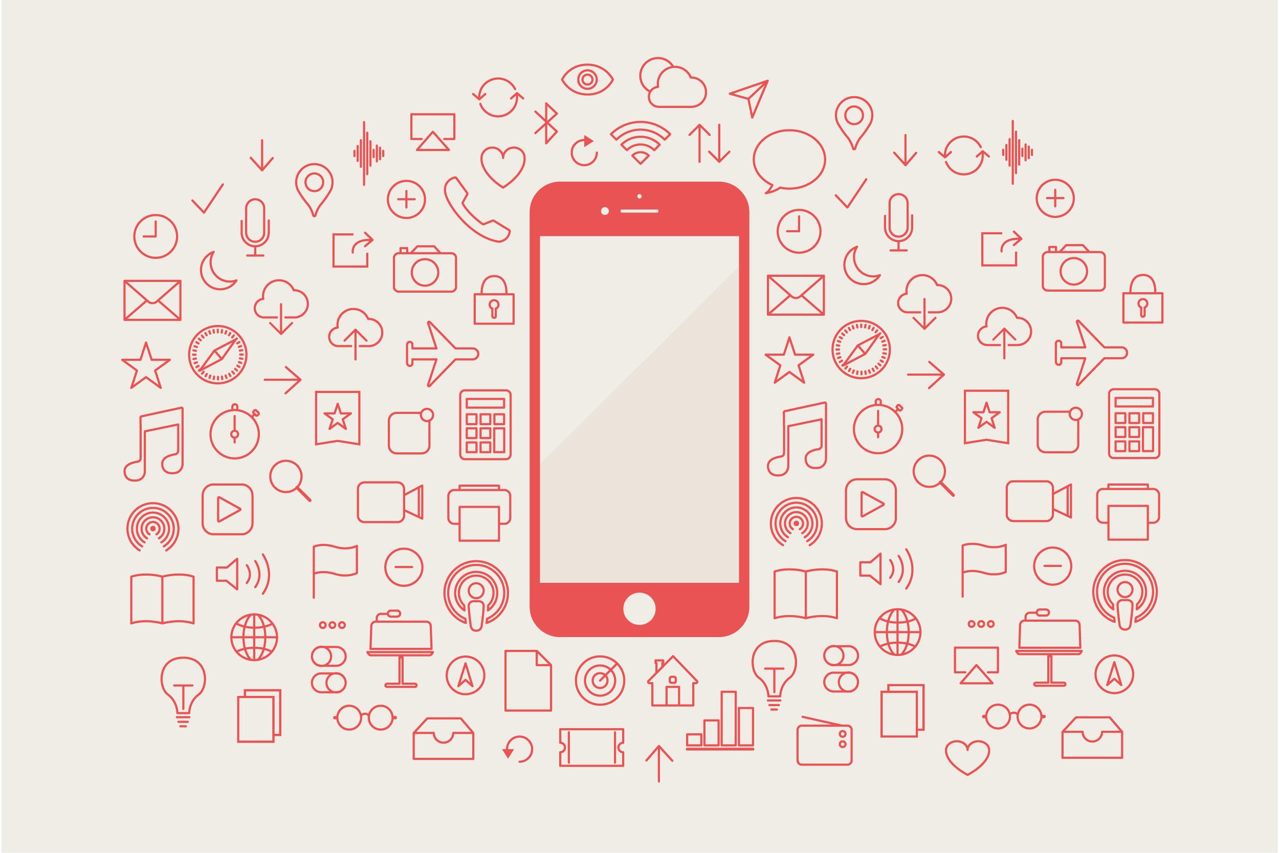 espaço smartphone celular apps info