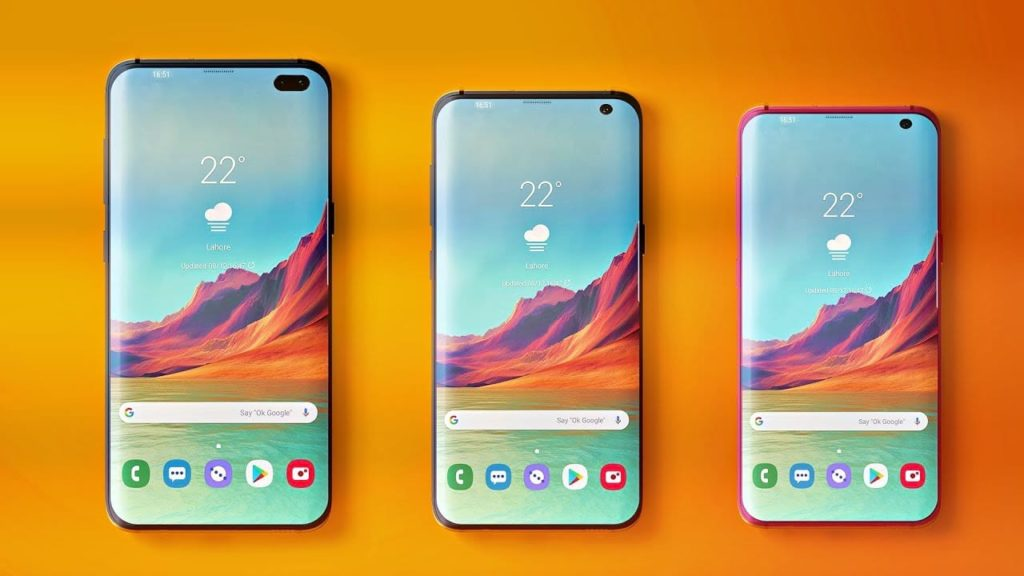 Novo Samsung Galaxy S10 - três modelos